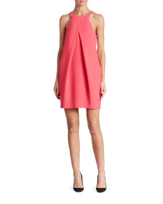 Trina Turk - Pink Felisha Halter Shift Dress - Lyst