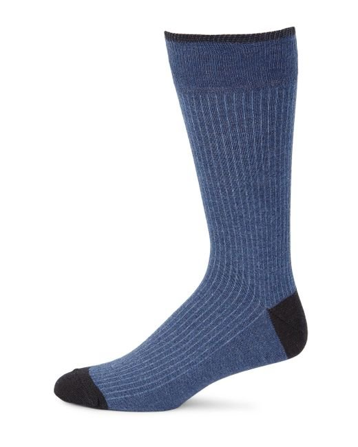 Saks Fifth Avenue | Blue Collection Stripe Knitted Socks for Men | Lyst