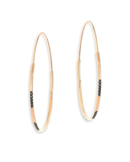 Lana Jewelry | Metallic Reckless Vol. 2 Small Black Diamond & 14k Yellow Gold Magic Hoop Earrings | Lyst