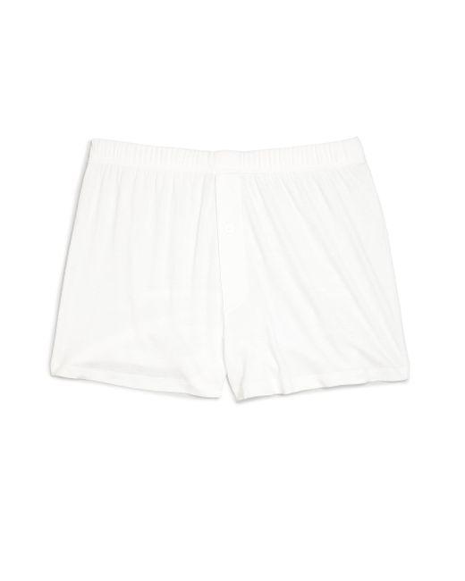 Hanro White Sea Island Cotton Sea Island Cotton Boxers for men