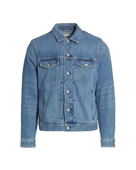 Rag & Bone Blue Definitive Denim Jacket for men