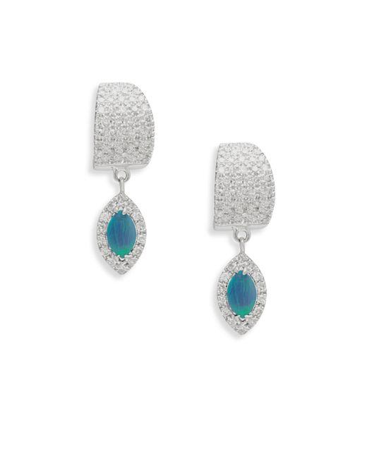 Meira T | Multicolor Diamond & Opal Drop Earrings | Lyst