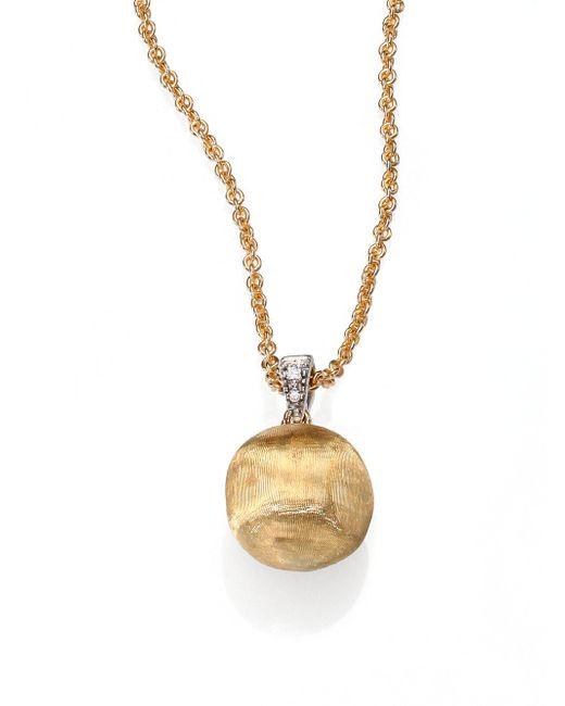 Marco Bicego   Metallic Delicati Diamond, 18k Yellow & White Gold Sphere Pendant Necklace   Lyst