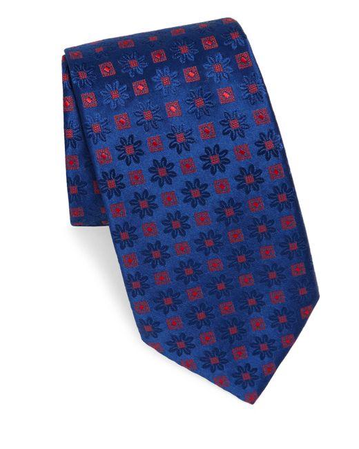 Charvet - Blue Edelweiss Patterntie for Men - Lyst