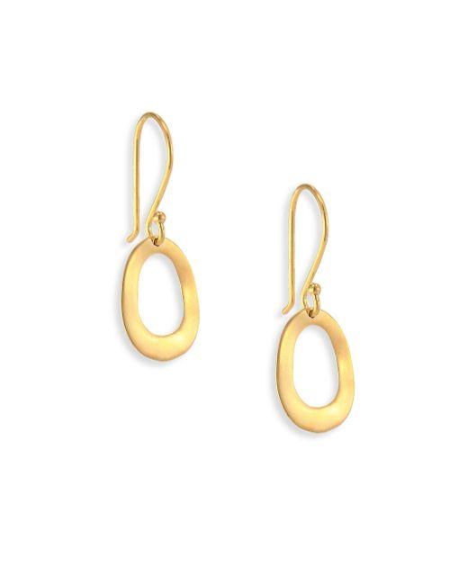 Ippolita - Metallic Glamazon Sculptural Metal 18k Yellow Gold Mini Open Oval Drop Earrings - Lyst