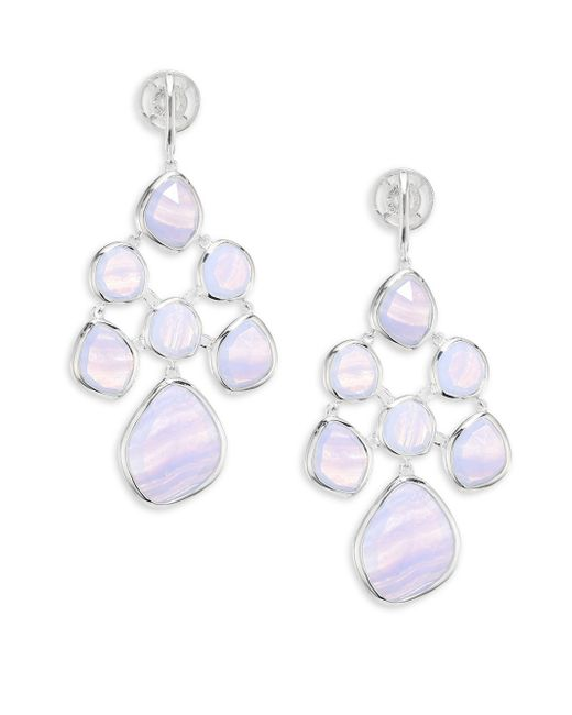 Monica Vinader | Metallic Siren Blue Lace Agaate Chandelier Earrings | Lyst