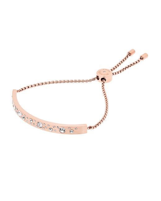 Michael Kors | Multicolor Modern Brilliance Crystal Slider Bracelet/rose Goldtone | Lyst