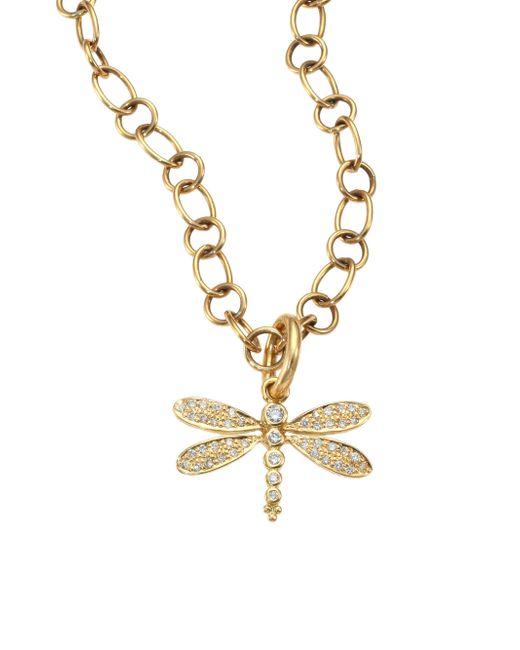 Temple St. Clair | Metallic Tree Of Life Diamond & 18k Yellow Gold Dragonfly Enhancer | Lyst