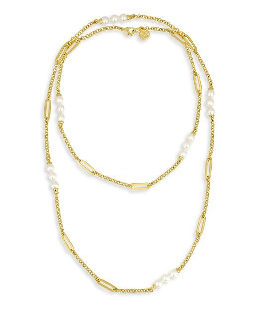Majorica | Metallic Modern 6mm Organic Pearl Necklace | Lyst