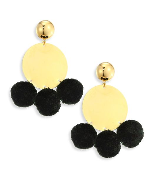 Elizabeth and James | Metallic Stevie Pom-pom Drop Earrings | Lyst
