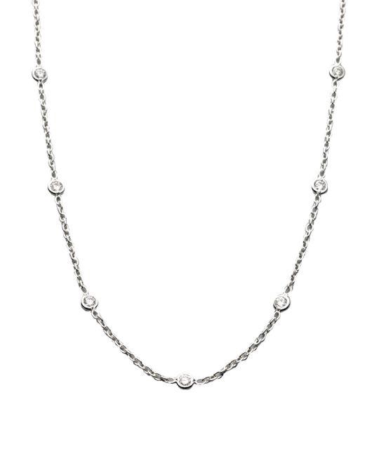 Roberto Coin - Metallic Diamond & 18k White Gold Station Necklace - Lyst