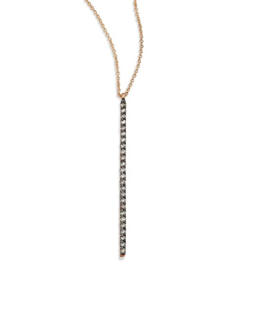 Kismet by Milka - Metallic Champagne Diamond & 14k Rose Gold Pendant Necklace - Lyst