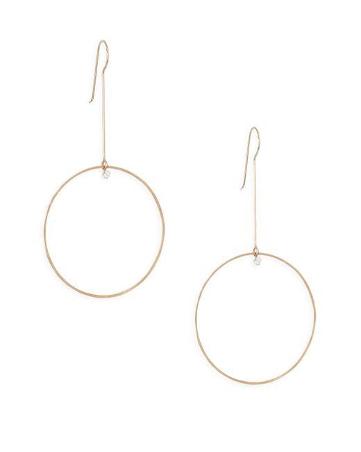 Zoe Chicco - Metallic Paris Diamond & 14k Yellow Gold Circle Drop Earrings - Lyst