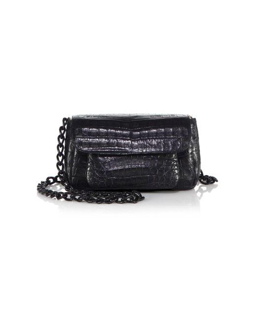 Nancy Gonzalez Pink Mini Accordion Crocodile Crossbody Bag