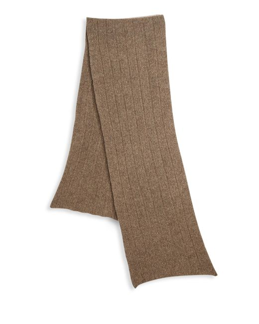 Saks Fifth Avenue - Brown Collection Knit Ribbed Scarf for Men - Lyst