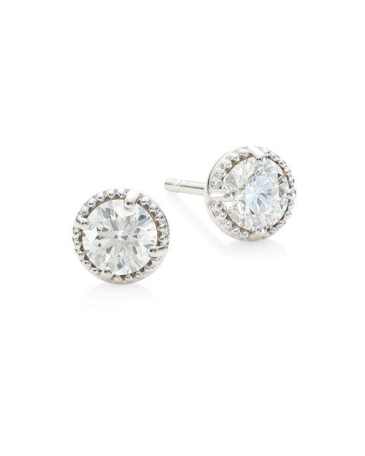 Hearts On Fire - Metallic Diamond & 18k White Gold Earrings - White Gold - Lyst