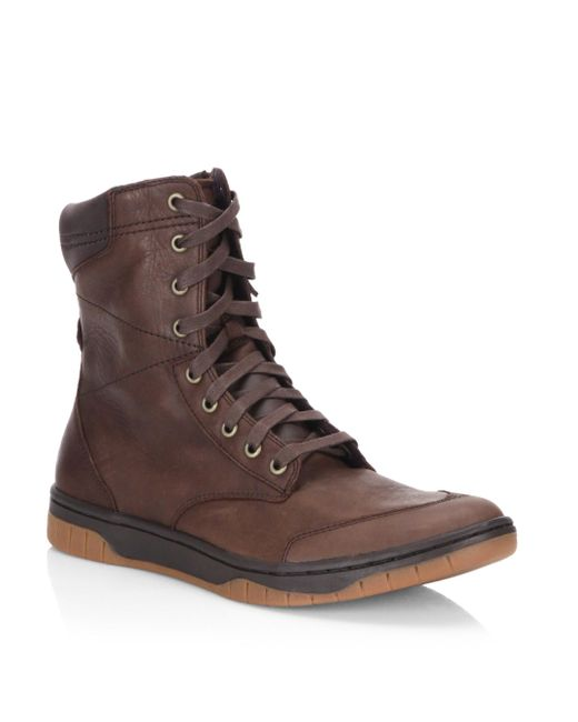 DIESEL - Brown Tatradium Leather Boots for Men - Lyst