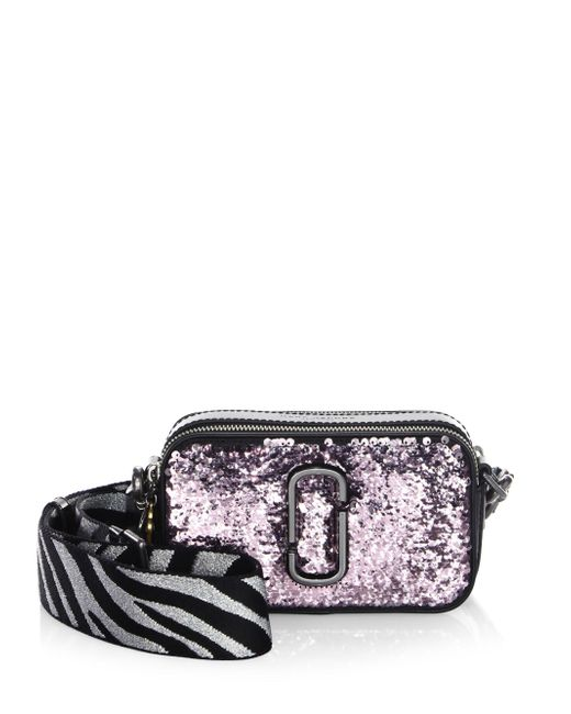 Marc Jacobs - Multicolor Snapshot Gunmetal Leather Crossbody Bag - Lyst