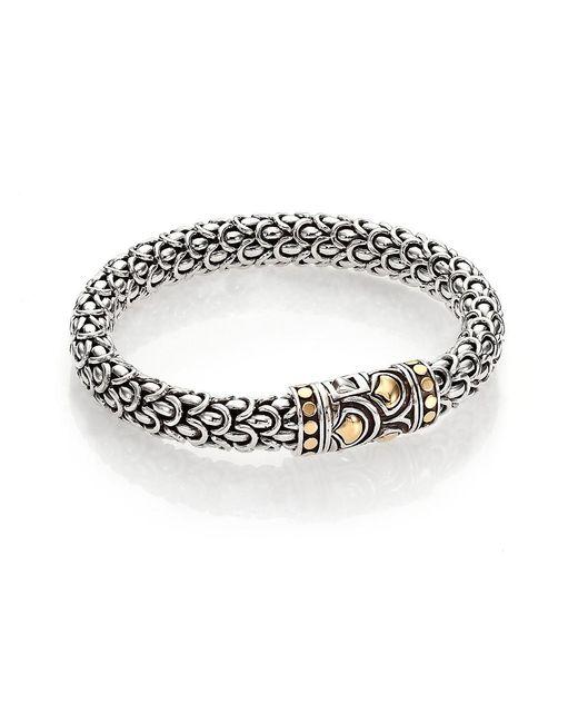 John Hardy Metallic Naga 18k Yellow Gold & Sterling Silver Chain Bracelet