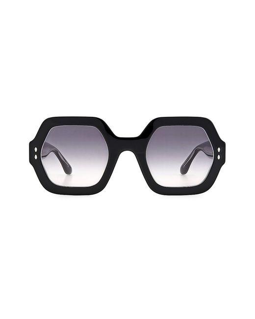 Isabel Marant Black Ely 61mm Hexagonal Sunglasses