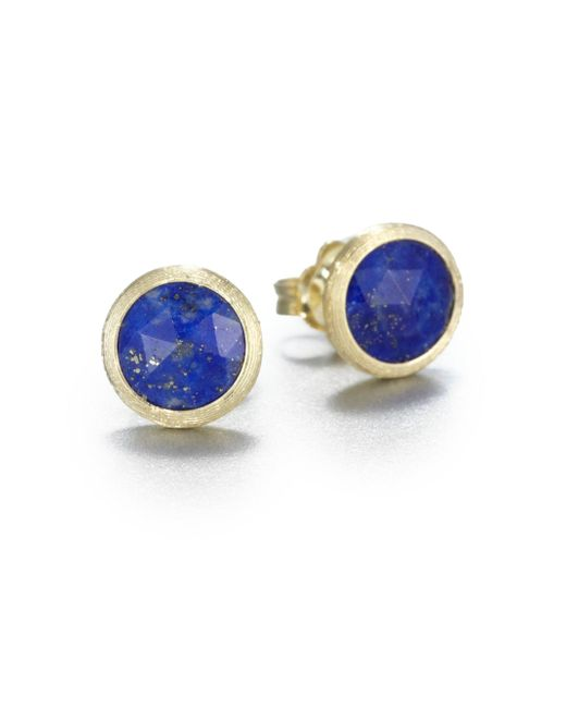 Marco Bicego - Blue Jaipur Resort Lapis & 18k Yellow Gold Stud Earrings - Lyst