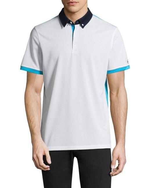 AG Green Label | White Deuce Short-sleeve Polo for Men | Lyst