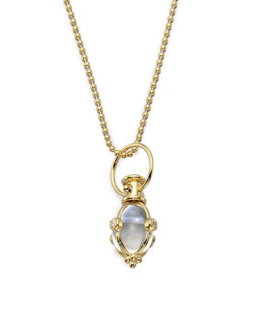 Temple St. Clair - Metallic Classic Rock Crystal, Diamond & 18k Yellow Gold Amulet - Lyst