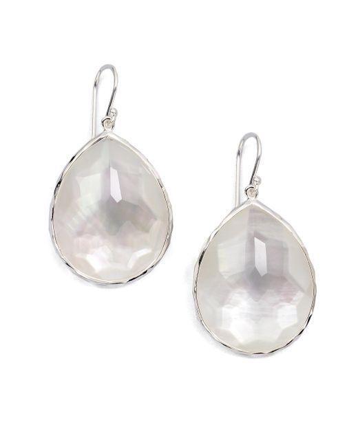 Ippolita - Metallic Wonderland Mother-of-pearl, Clear Quartz & Sterling Silver Large Doublet Teardrop Earrings - Lyst