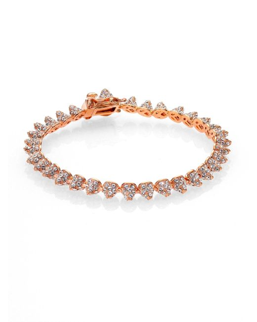Eddie Borgo - Metallic Pave Crystal Cone Bracelet - Lyst