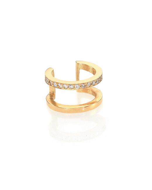 Zoe Chicco | Metallic Pave Diamond & 14k Yellow Gold Single Ear Cuff | Lyst