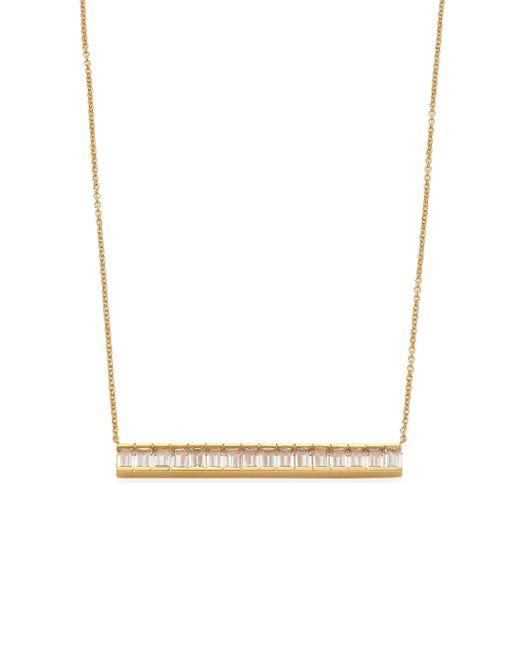 Jennifer Zeuner | Metallic Zephyr White Sapphire Necklace | Lyst