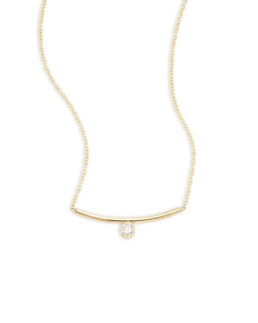 Zoe Chicco - Metallic Diamond & 14k Yellow Gold Necklace - Lyst