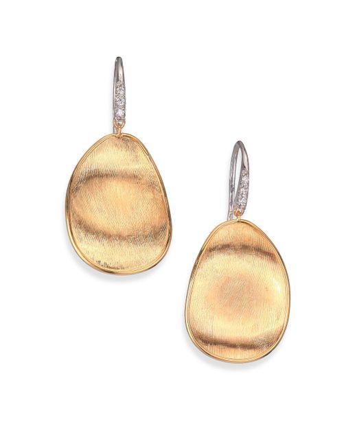 Marco Bicego - Metallic Lunaria Diamond & 18k Yellow Gold Drop Earrings - Lyst