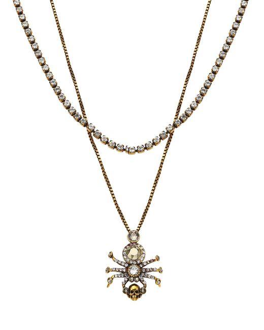 Alexander McQueen Blue Spider Layered Necklace