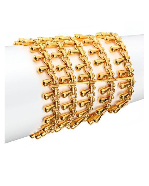 Nest   Metallic Teardrop Fringe Multi-row Chain Bracelet   Lyst