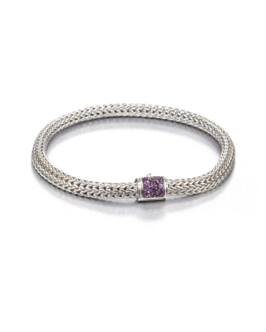 John Hardy | Metallic Classic Chain Amethyst & Sterling Silver Extra-small Bracelet for Men | Lyst