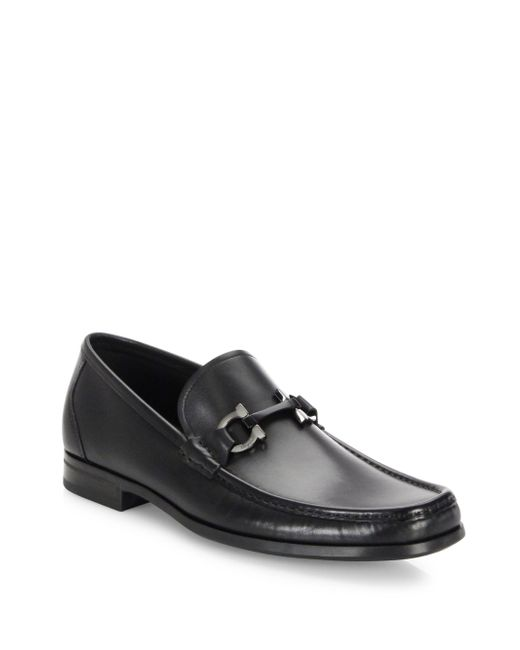 Ferragamo - Black Grandioso Leather Bit Loafers for Men - Lyst