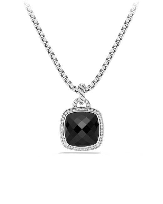 David Yurman - Black Albion Pendant With Diamonds - Lyst