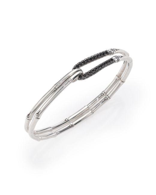 John Hardy - Metallic Bamboo Sapphire & Sterling Silver Hook Bangle Bracelet - Lyst