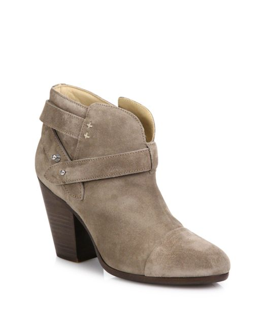Rag & Bone | Gray Harrow Suede Ankle Boots | Lyst
