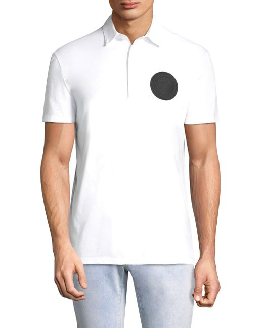 Versace - White Logo Polo Shirt for Men - Lyst