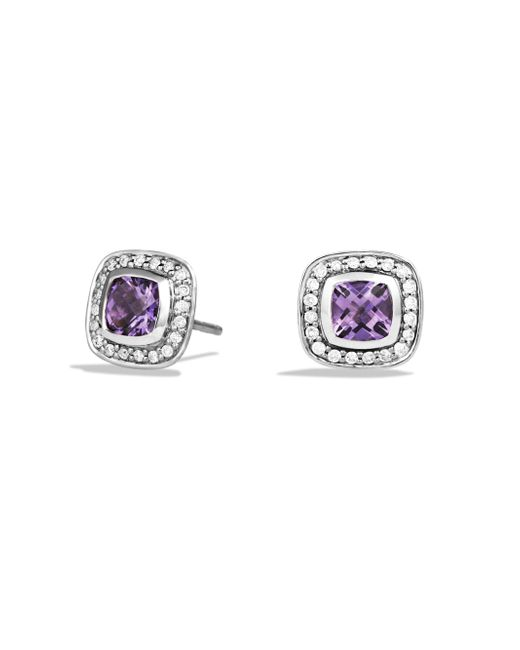 David Yurman - Metallic Petite Albion Earrings With Diamonds - Lyst