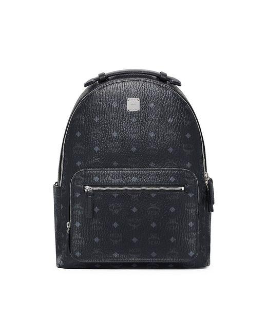 MCM Black Stark Visetos Backpack for men