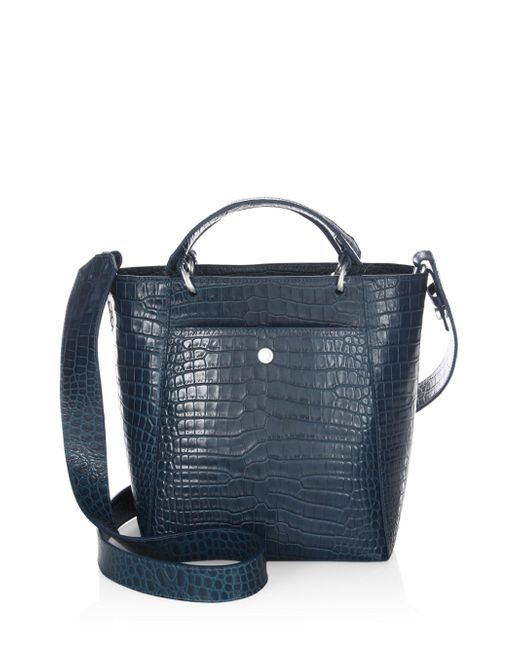 Elizabeth and James | Blue Eloise Petit Scaled Leather Tote | Lyst