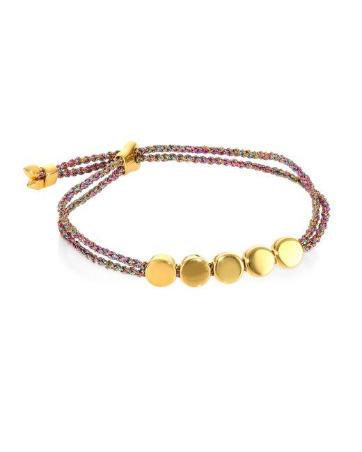 Monica Vinader - Metallic Linear Bead Friendship Bracelet/rainbow - Lyst