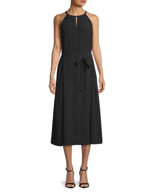 Eileen Fisher - Black Keyhole Halter Dress - Lyst
