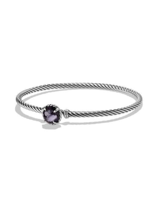 David Yurman - Metallic Chatelaine Sterling Silver Faceted Dome Bracelet - Lyst