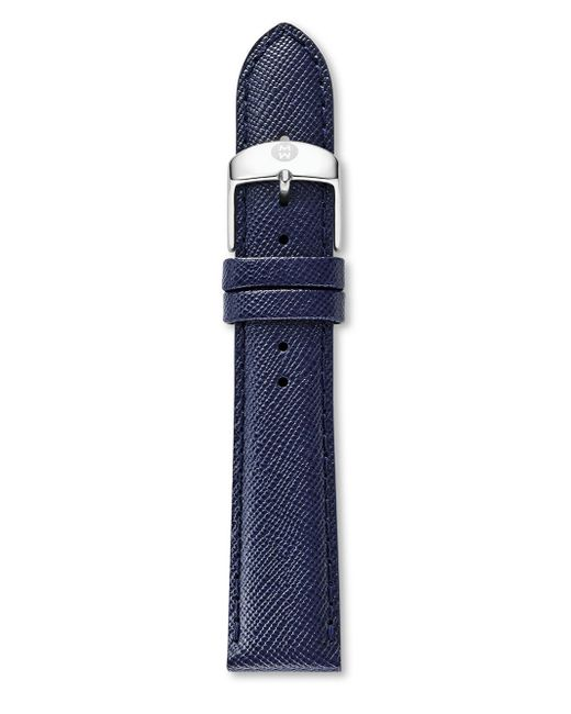 Michele Watches - Blue Saffiano Leather Watch Strap/16mm - Lyst