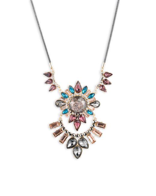 ABS By Allen Schwartz - Metallic Make Me Blush Crystal Pendant Necklace - Lyst
