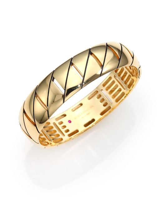 Roberto Coin - Metallic Appassionata 18k Yellow Gold Bangle Bracelet - Lyst
